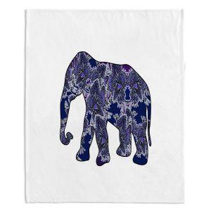 Decorative Fleece Throw Blankets   Susie Kunzelman - Elephant 5