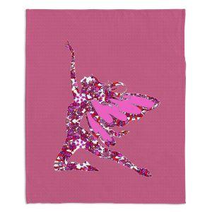 Decorative Fleece Throw Blankets | Susie Kunzelman - Fairy Come Fly Pink