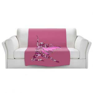 Artistic Sherpa Pile Blankets   Susie Kunzelman - Fairy Come Fly Pink