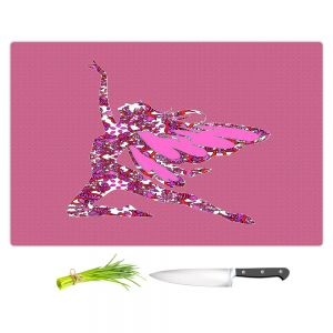 Artistic Kitchen Bar Cutting Boards | Susie Kunzelman - Fairy Come Fly Pink