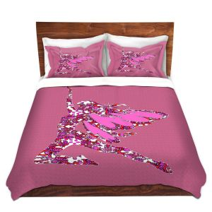 Artistic Duvet Covers and Shams Bedding | Susie Kunzelman - Fairy Come Fly Pink
