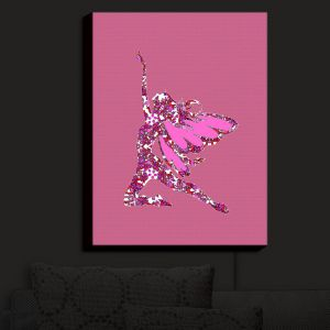 Nightlight Sconce Canvas Light | Susie Kunzelman - Fairy Come Fly Pink | Fairies Magical Childlike