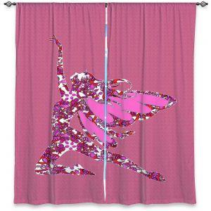 Decorative Window Treatments | Susie Kunzelman - Fairy Come Fly Pink
