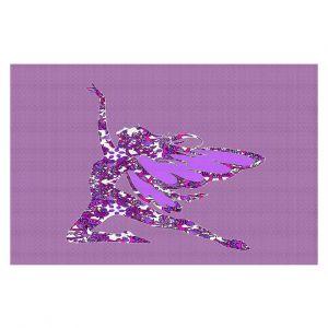 Decorative Floor Coverings | Susie Kunzelman - Fairy Come Fly Purple