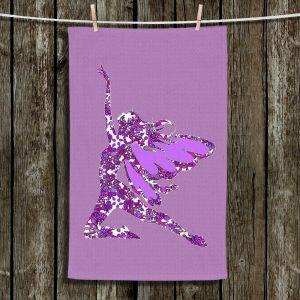 Unique Bathroom Towels | Susie Kunzelman - Fairy Come Fly Purple