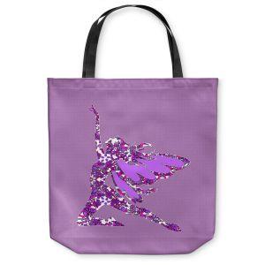 Unique Shoulder Bag Tote Bags | Susie Kunzelman - Fairy Come Fly Purple