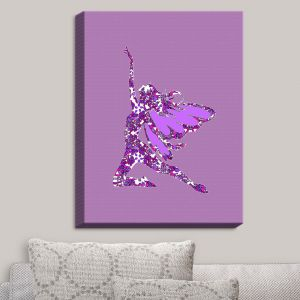 Decorative Canvas Wall Art | Susie Kunzelman - Fairy Come Fly Purple
