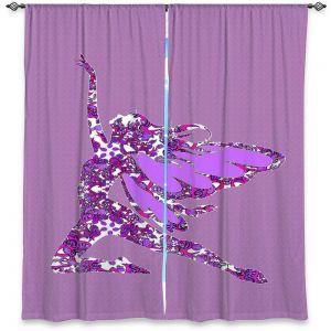 Decorative Window Treatments | Susie Kunzelman - Fairy Come Fly Purple