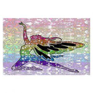 Decorative Floor Coverings | Susie Kunzelman - Fairy Come Fly Rainbow