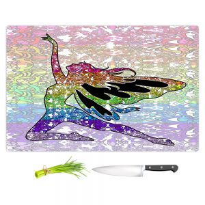 Artistic Kitchen Bar Cutting Boards | Susie Kunzelman - Fairy Come Fly Rainbow