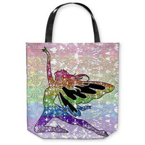 Unique Shoulder Bag Tote Bags | Susie Kunzelman - Fairy Come Fly Rainbow