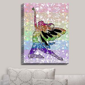 Decorative Canvas Wall Art | Susie Kunzelman - Fairy Come Fly Rainbow | Fantasty Childlike Whimsical