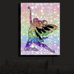 Nightlight Sconce Canvas Light | Susie Kunzelman - Fairy Come Fly Rainbow | Fantasty Childlike Whimsical