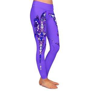 Casual Comfortable Leggings | Susie Kunzelman - Fairy Dance Blue Periwinkle