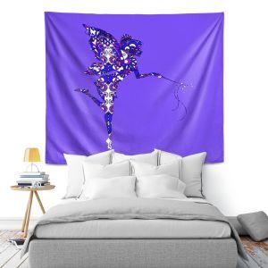 Artistic Wall Tapestry | Susie Kunzelman - Fairy Dance Blue Periwinkle