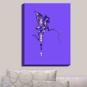 Decorative Canvas Wall Art | Susie Kunzelman - Fairy Dance Blue Periwinkle