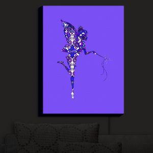 Nightlight Sconce Canvas Light | Susie Kunzelman - Fairy Dance Blue Periwinkle | Fairies Magical Childlike