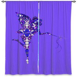 Decorative Window Treatments | Susie Kunzelman - Fairy Dance Blue Periwinkle