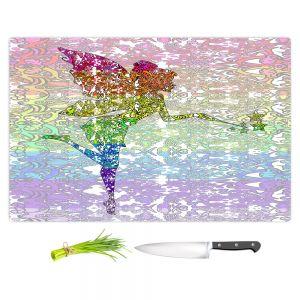 Artistic Kitchen Bar Cutting Boards | Susie Kunzelman - Fairy Dance Rainbow