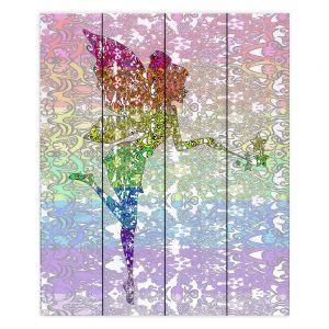 Decorative Wood Plank Wall Art | Susie Kunzelman - Fairy Dance Rainbow