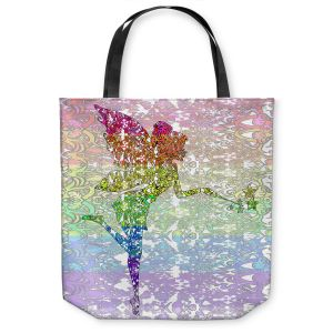 Unique Shoulder Bag Tote Bags | Susie Kunzelman - Fairy Dance Rainbow