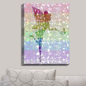 Decorative Canvas Wall Art | Susie Kunzelman - Fairy Dance Rainbow | Fantasty Childlike Whimsical
