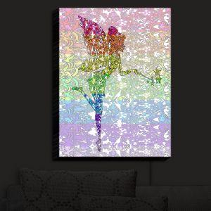 Nightlight Sconce Canvas Light | Susie Kunzelman - Fairy Dance Rainbow | Fantasty Childlike Whimsical