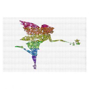 Decorative Floor Coverings | Susie Kunzelman - Fairy Dance Rainbow White