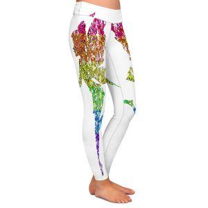 Casual Comfortable Leggings | Susie Kunzelman - Fairy Dance Rainbow White