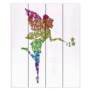 Decorative Wood Plank Wall Art | Susie Kunzelman - Fairy Dance Rainbow White