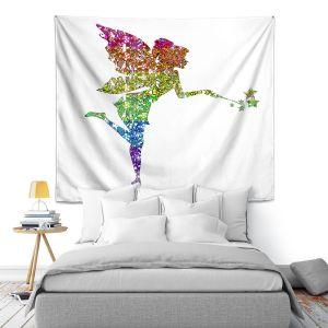 Artistic Wall Tapestry | Susie Kunzelman - Fairy Dance Rainbow White