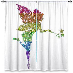 Decorative Window Treatments | Susie Kunzelman - Fairy Dance Rainbow White