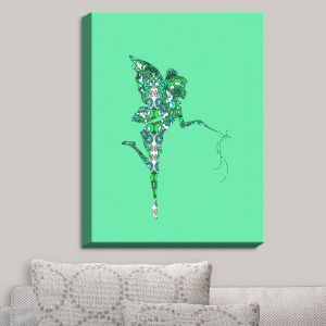 Decorative Canvas Wall Art | Susie Kunzelman - Fairy Flowers Aqua Green