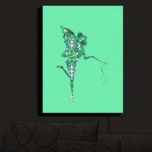 Nightlight Sconce Canvas Light | Susie Kunzelman - Fairy Flowers Aqua Green | Fairies Magical Childlike