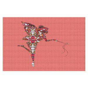 Decorative Floor Coverings | Susie Kunzelman - Fairy Flowers Pink