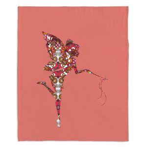 Decorative Fleece Throw Blankets   Susie Kunzelman - Fairy Flowers Pink