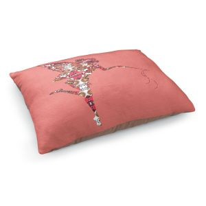 Decorative Dog Pet Beds | Susie Kunzelman - Fairy Flowers Pink