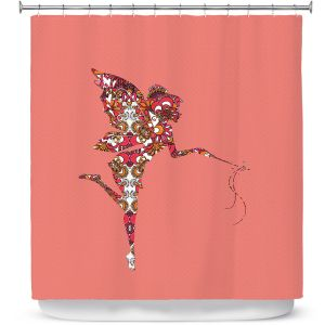 Premium Shower Curtains | Susie Kunzelman - Fairy Flowers Pink