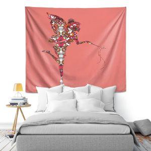 Artistic Wall Tapestry | Susie Kunzelman - Fairy Flowers Pink