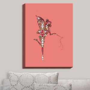 Decorative Canvas Wall Art | Susie Kunzelman - Fairy Flowers Pink
