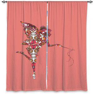 Decorative Window Treatments | Susie Kunzelman - Fairy Flowers Pink