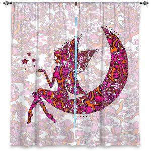 Decorative Window Treatments | Susie Kunzelman - Fairy Moon Ribbons Red Pink