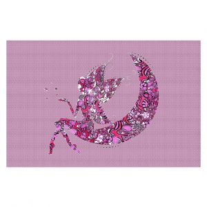 Decorative Floor Coverings | Susie Kunzelman - Fairy Moon I Pink