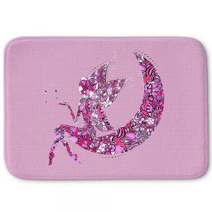 Decorative Bathroom Mats | Susie Kunzelman - Fairy Moon I Pink