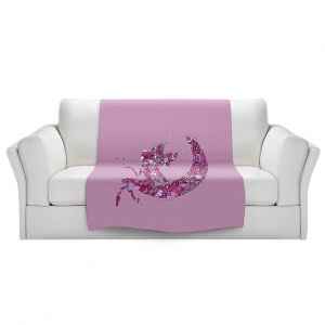 Artistic Sherpa Pile Blankets   Susie Kunzelman - Fairy Moon I Pink