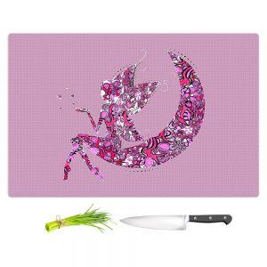 Artistic Kitchen Bar Cutting Boards   Susie Kunzelman - Fairy Moon I Pink