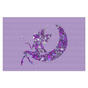 Decorative Floor Coverings | Susie Kunzelman - Fairy Moon I Purple
