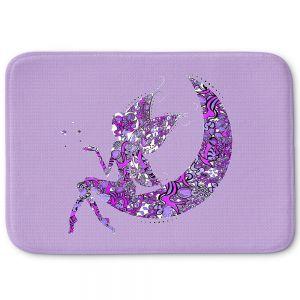 Decorative Bathroom Mats | Susie Kunzelman - Fairy Moon I Purple