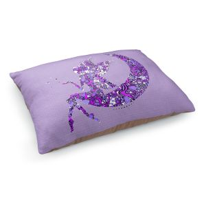 Decorative Dog Pet Beds | Susie Kunzelman - Fairy Moon I Purple