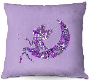 Throw Pillows Decorative Artistic | Susie Kunzelman - Fairy Moon I Purple